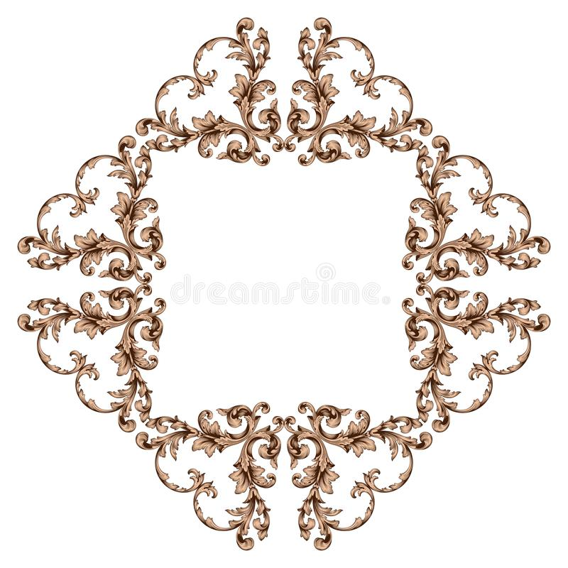 Klassiek barok ornament stock foto