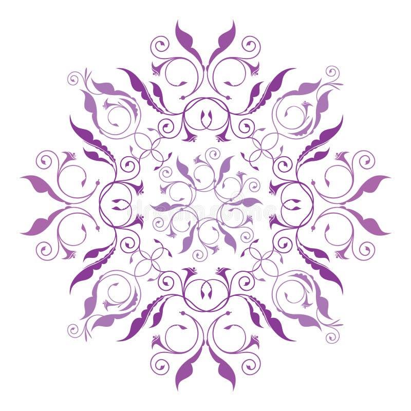 Klassiek bloemenpatroon royalty-vrije illustratie