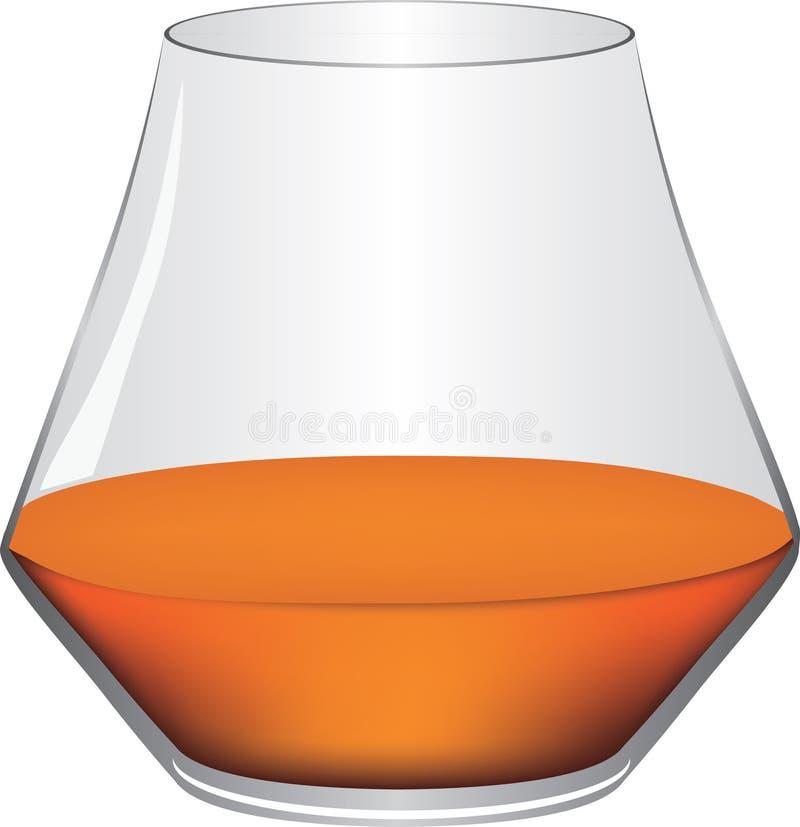 Klassiek cognacglas stock illustratie