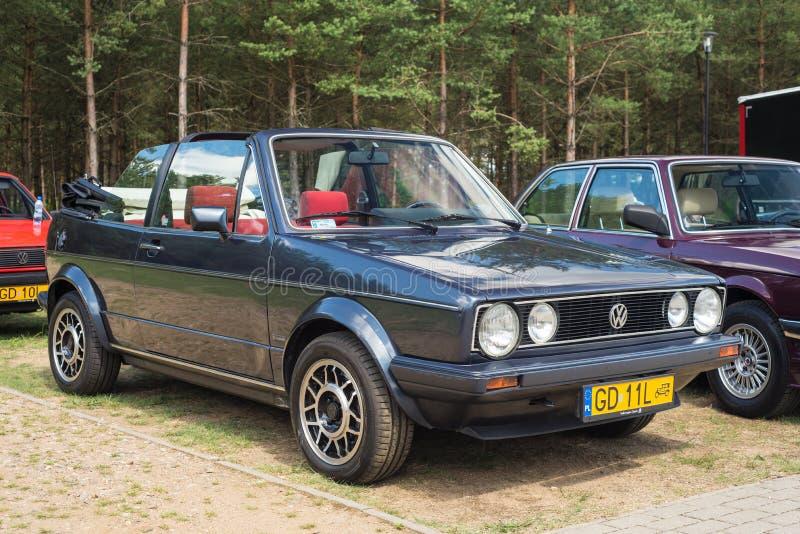 Klassiek convertibel VW Golf stock afbeeldingen