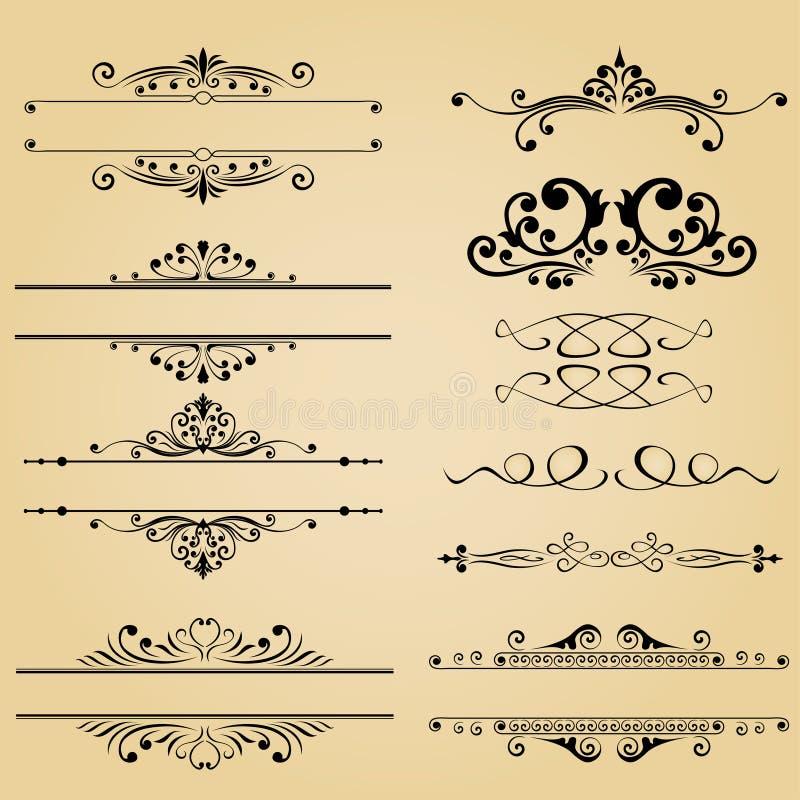 Klassiek element van uitstekend vectorontwerp voor drukboeken, tijdschriften vector illustratie