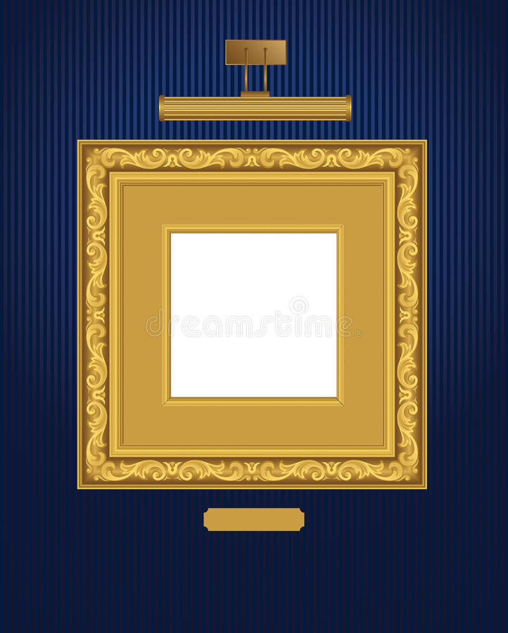 Klassiek frame met lamp. royalty-vrije illustratie