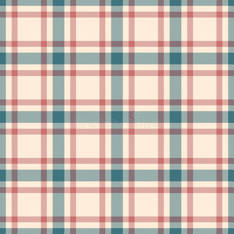 Klassiek geruit Schots wollen stof, Picknicktafelkleed, Gingang, Buffels, Lamberjack, Vrolijke de plaid naadloze patronen van de  vector illustratie