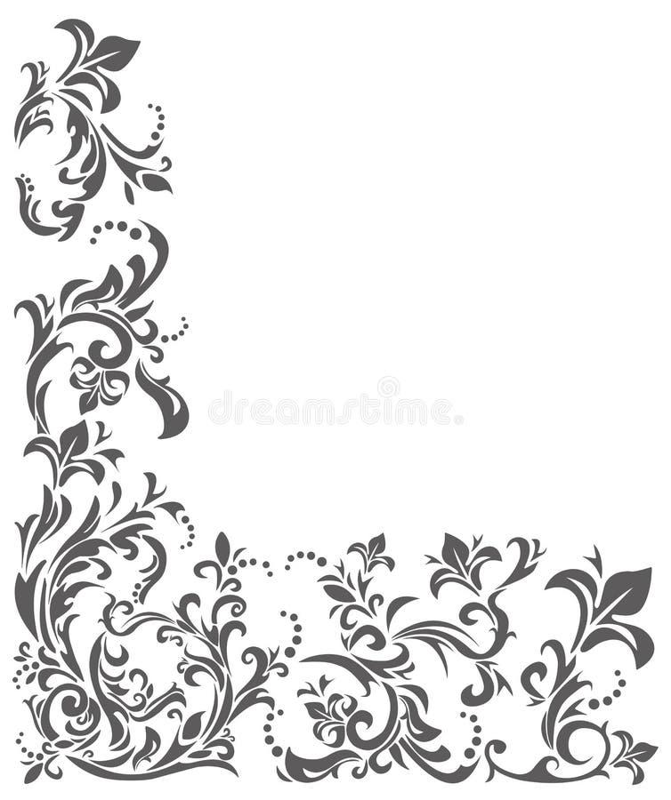 Klassiek grensornament met bloemenelementen vector illustratie