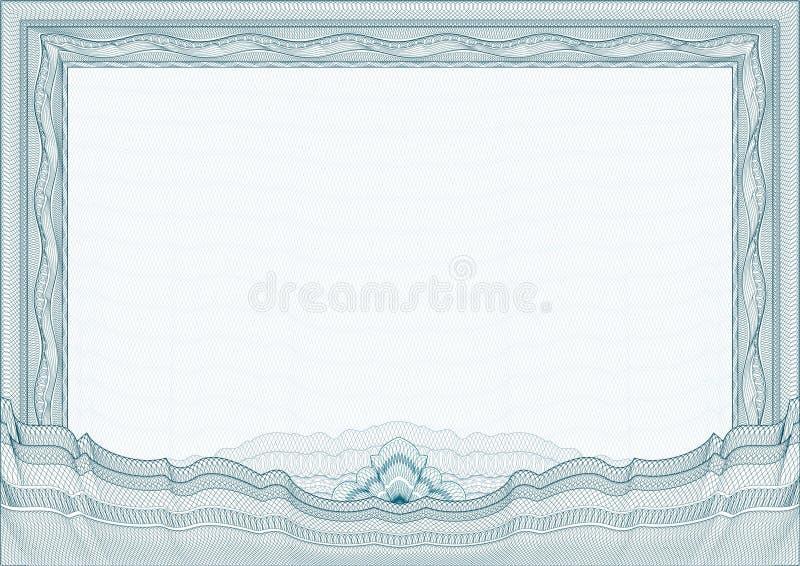 Klassiek guilloche grens/diploma of certificaat royalty-vrije illustratie