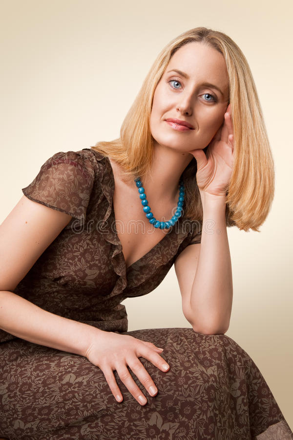 Klassiek modelportret stock foto's