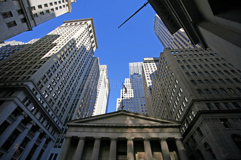 Klassiek New York - Wall Street stock afbeeldingen