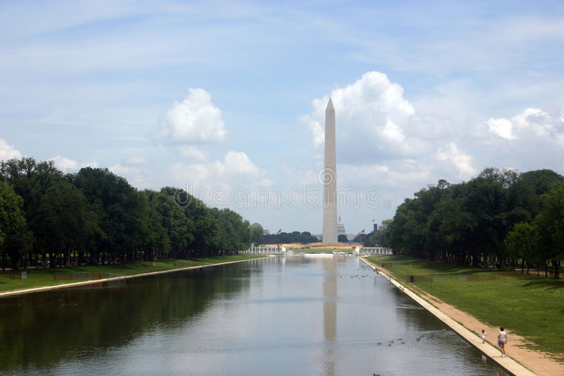 Klassiek patriottisch Washington gelijkstroom (de wandelgalerij) stock foto's