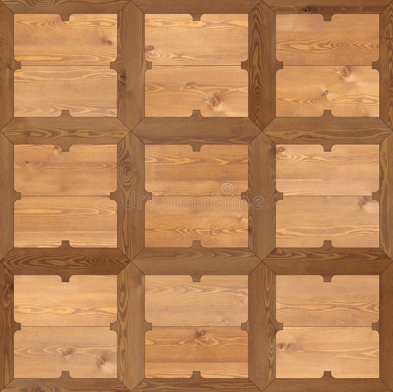 Klassiek patroonparket van natuurlijke houten naadloze textuur vector illustratie