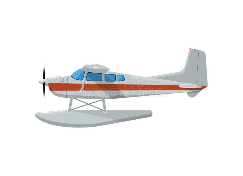 Klassiek propellerhydroplane geïsoleerd pictogram royalty-vrije illustratie