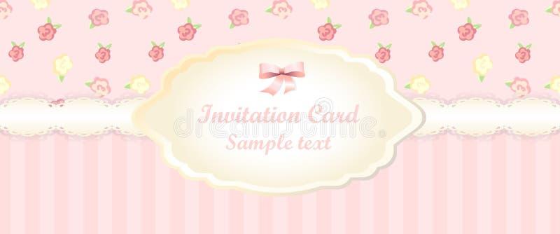 Klassiek romantisch uitnodigingsontwerp Vector stock illustratie