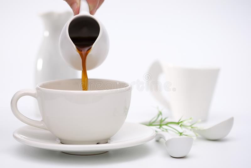 Klassiek stilleven met koffie royalty-vrije stock afbeelding