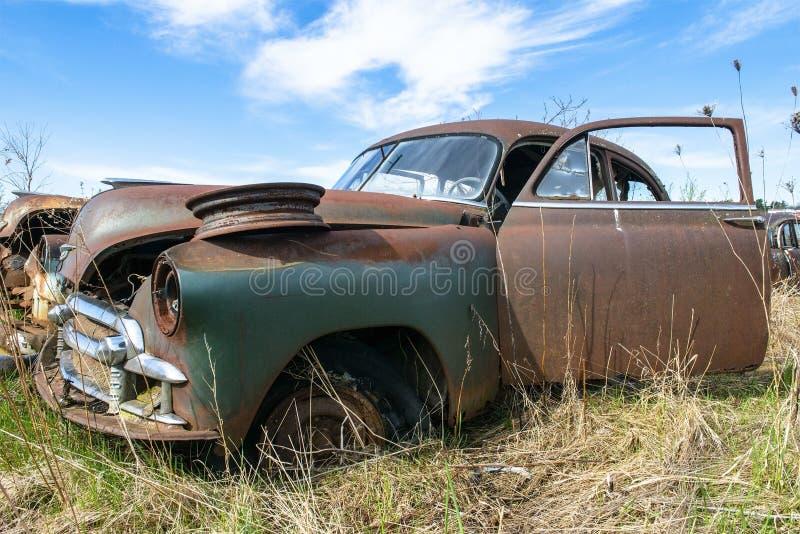 Klassiek Uitstekend Buick, Autokerkhofauto stock foto