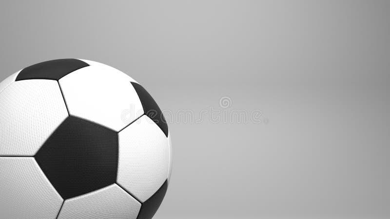 Klassiek voetbal of Europese voetbalbal het 3d teruggeven vector illustratie