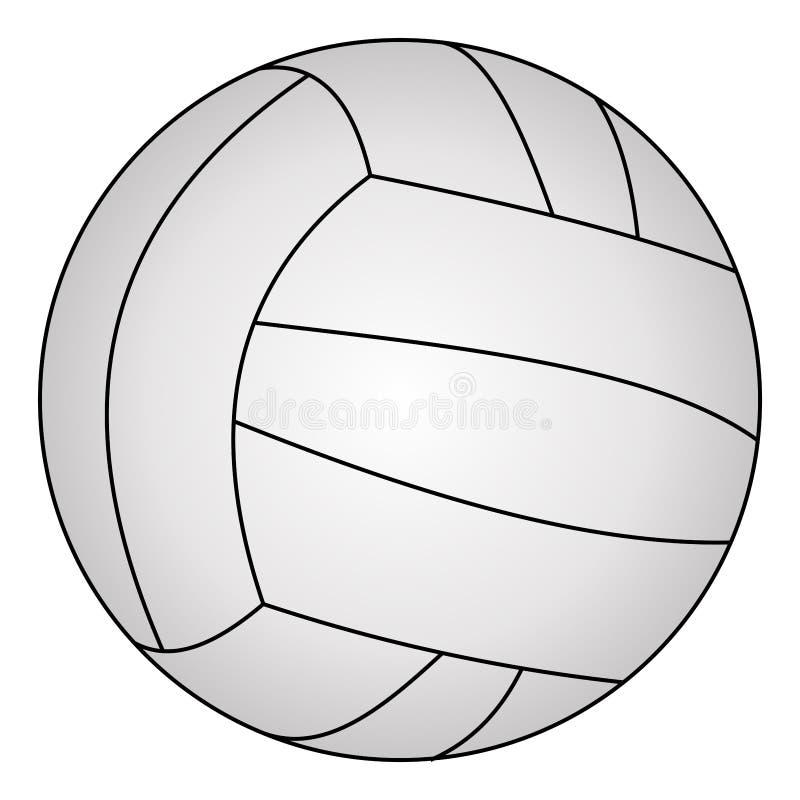 Klassiek volleyball, vectorillustratie vector illustratie