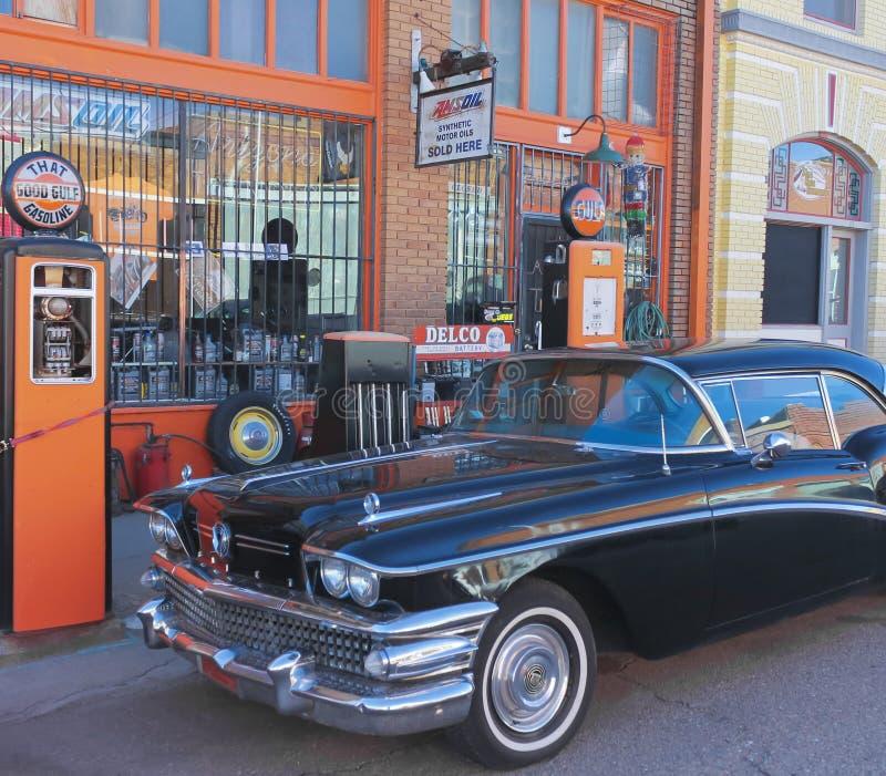 Klassiek Zwart Buick in Lowell, Arizona royalty-vrije stock foto's