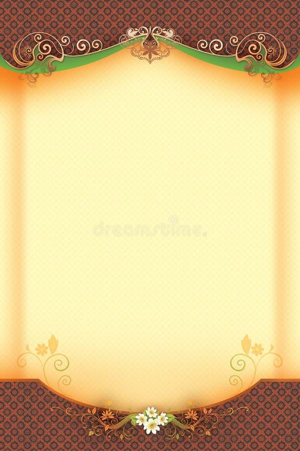 Klassieke Achtergrond met Bloemen en Werveling vector illustratie