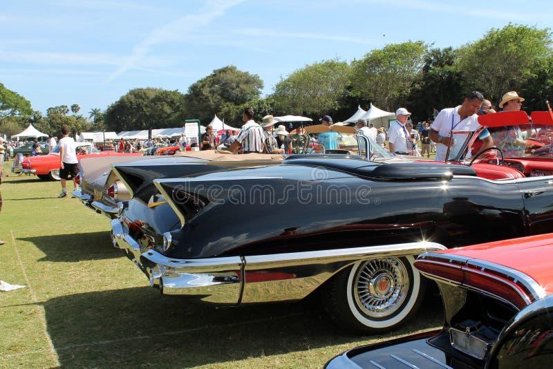 Klassieke Amerikaan tailfinned auto's stock foto
