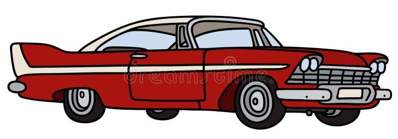 Klassieke Amerikaanse auto vector illustratie