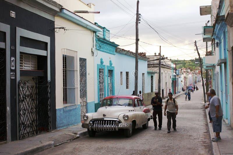 Klassieke Amerikaanse Auto in Cuba stock afbeeldingen