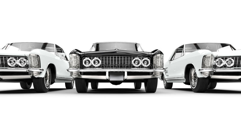 Klassieke Amerikaanse auto's stock illustratie