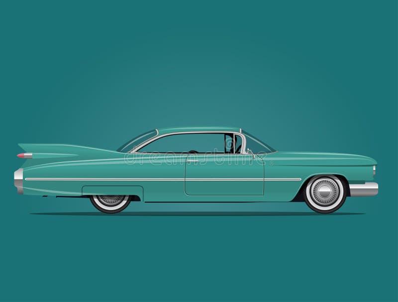 Klassieke Amerikaanse Autoillustratie vector illustratie