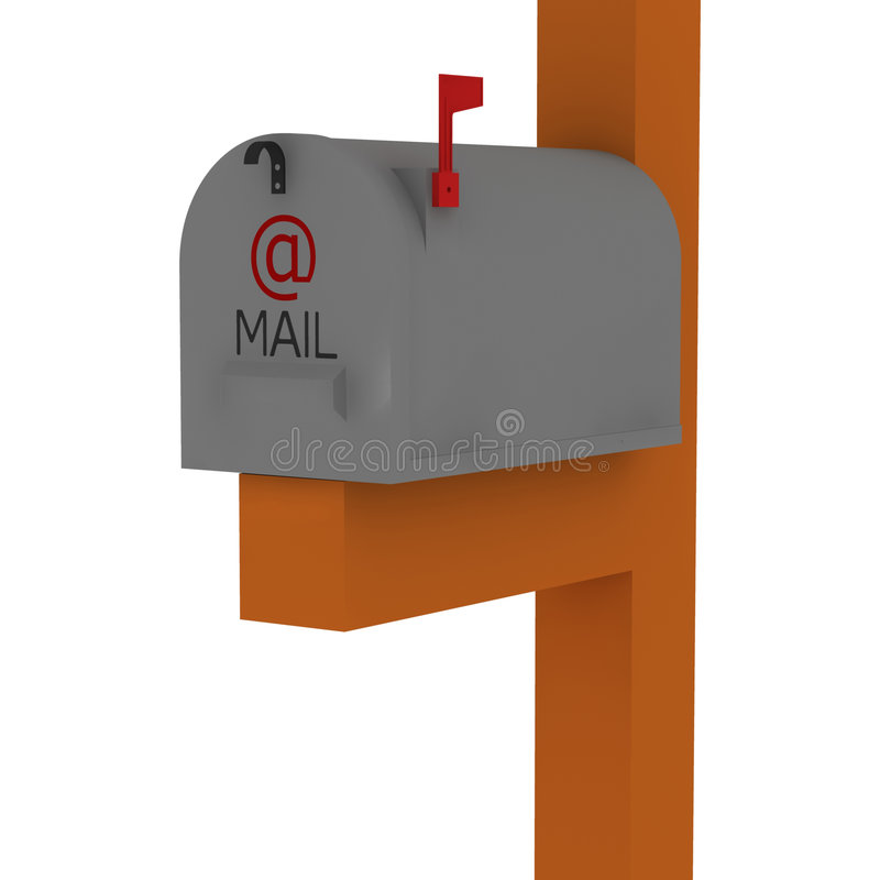 Klassieke Amerikaanse brievenbus royalty-vrije illustratie