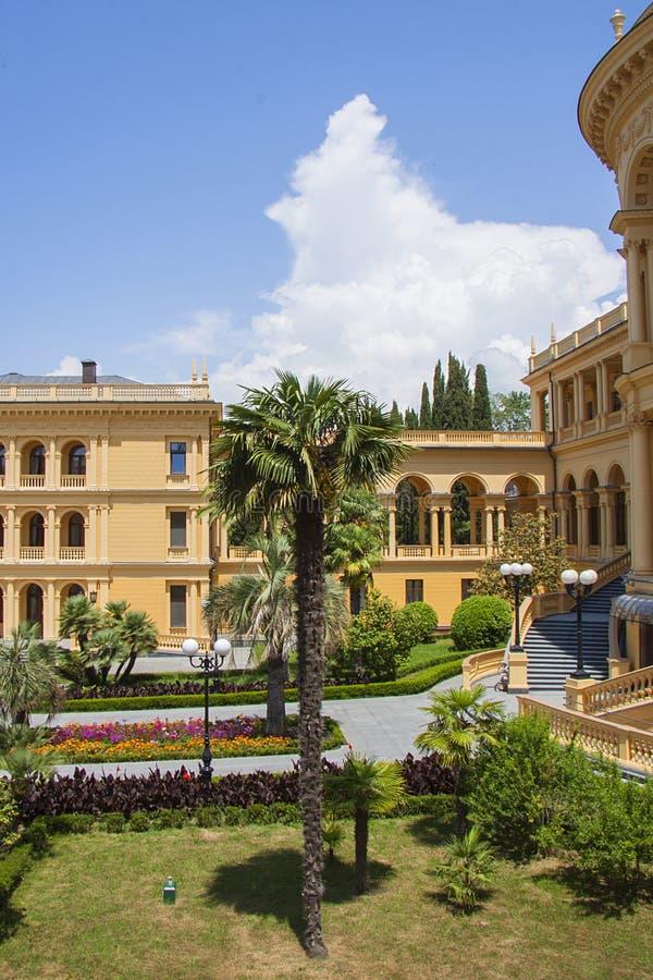 Klassieke arcitecturevilla royalty-vrije stock foto