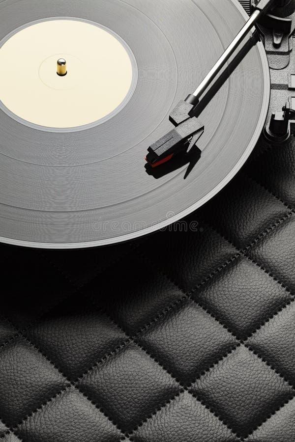 Klassieke audioapparatuur - vinylrecorder royalty-vrije stock foto