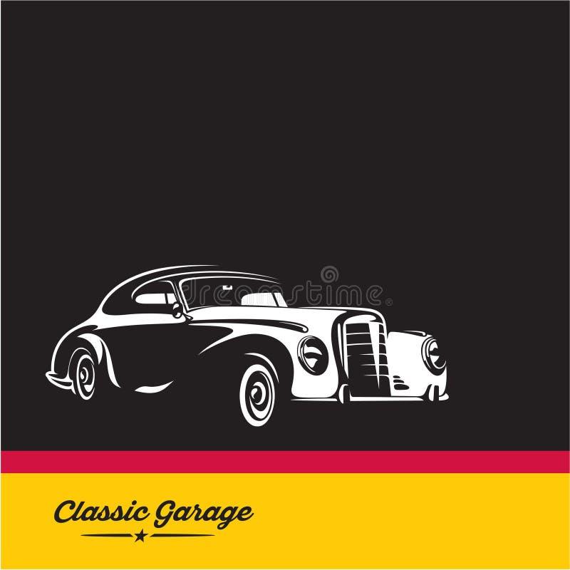Klassieke auto, luxe uitstekende auto royalty-vrije illustratie