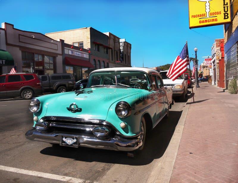 Klassieke Auto, Route 66 Williams, Arizona Amerika royalty-vrije stock foto's