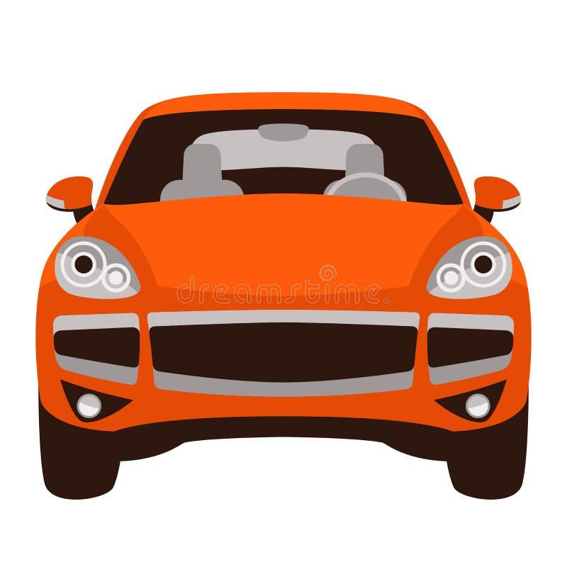Klassieke auto, vectorillustratie, vlakke stijl, vooraanzicht stock illustratie