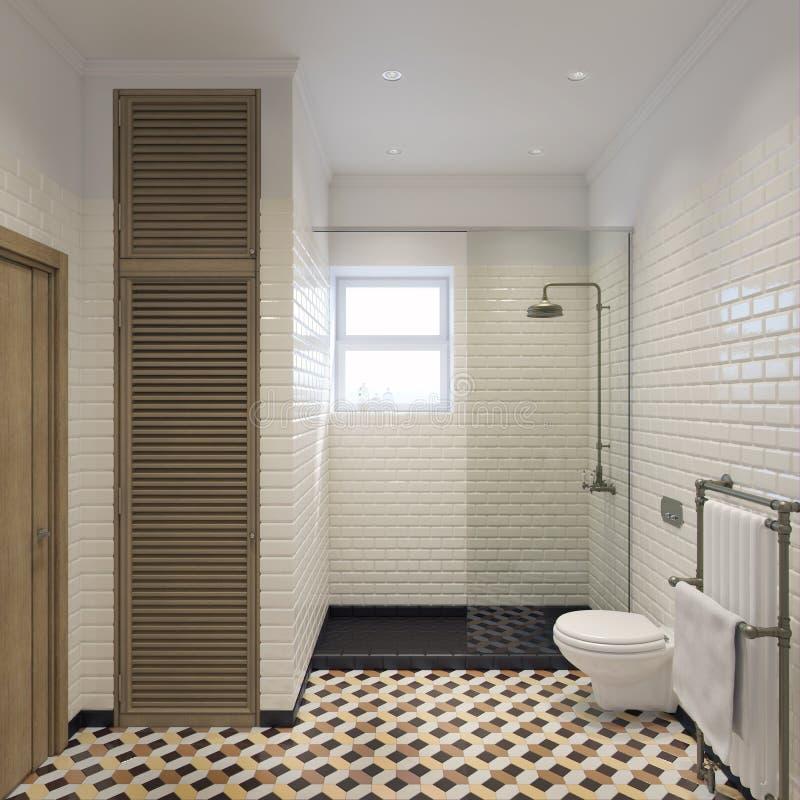 Klassieke badkamers 3d illustratie royalty-vrije stock foto's