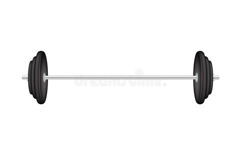 Klassieke barbell vector illustratie