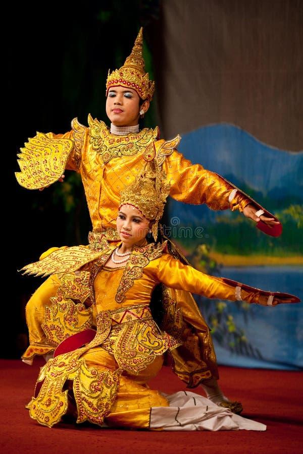 Klassieke Birmaanse dans royalty-vrije stock foto