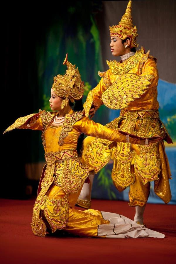 Klassieke Birmaanse dans stock foto