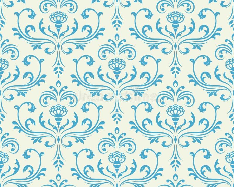 Klassieke bloemen naadloze achtergrond. vector illustratie