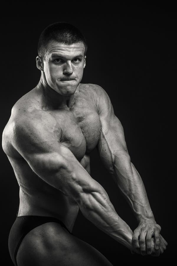 Klassieke bodybuilder stock foto's
