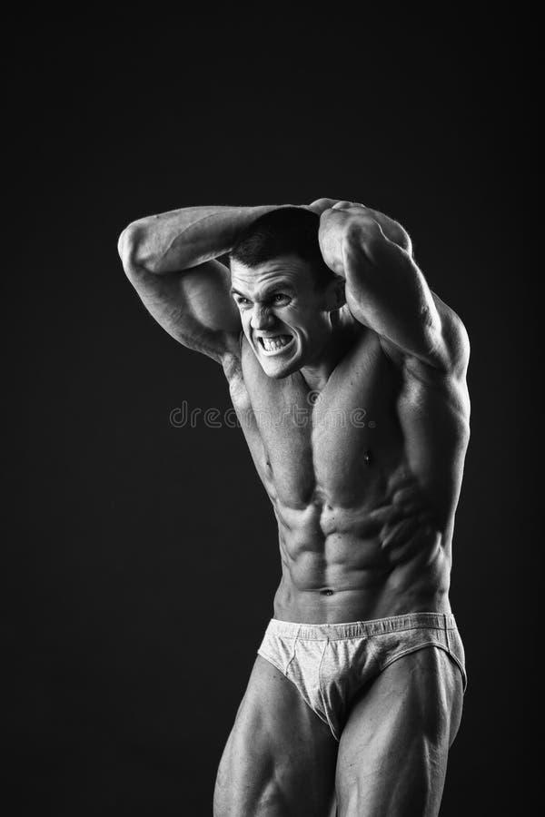 Klassieke bodybuilder royalty-vrije stock fotografie