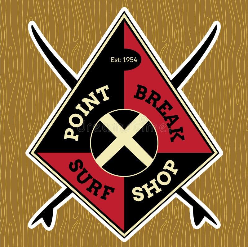Klassieke Branding Logo Design stock illustratie
