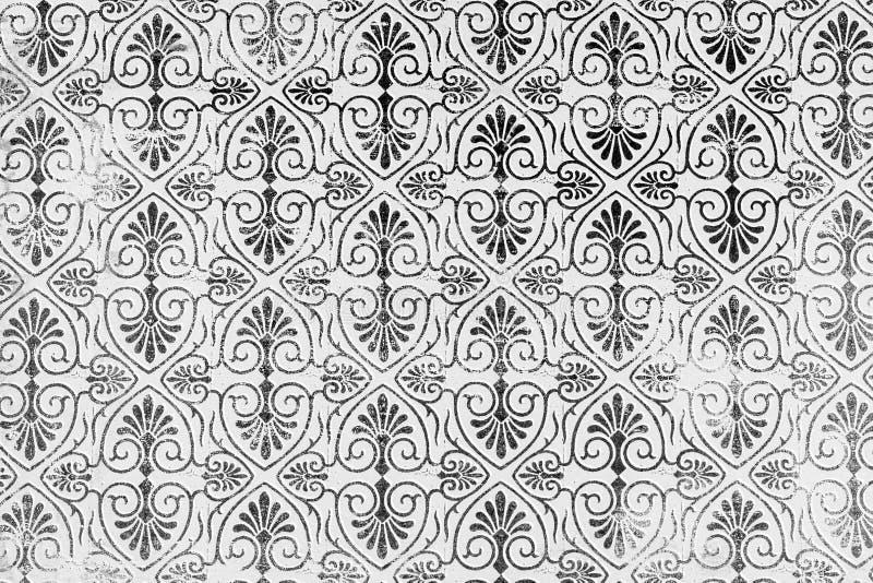Klassieke damast gevormde achtergrond stock afbeeldingen