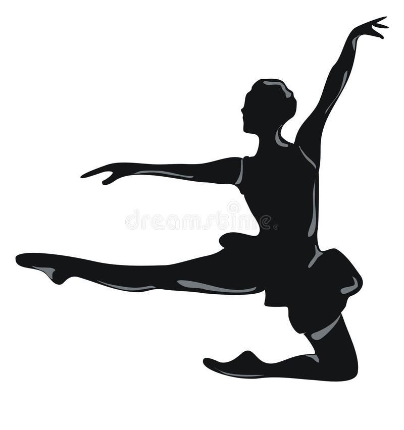 Klassieke danser vector illustratie
