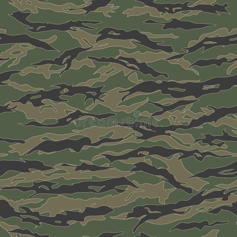 Klassieke de Camouflage naadloze patronen van de Tijgerstreep stock illustratie