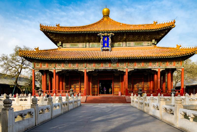 Klassieke en Historische Architectuur in Peking, China stock afbeelding