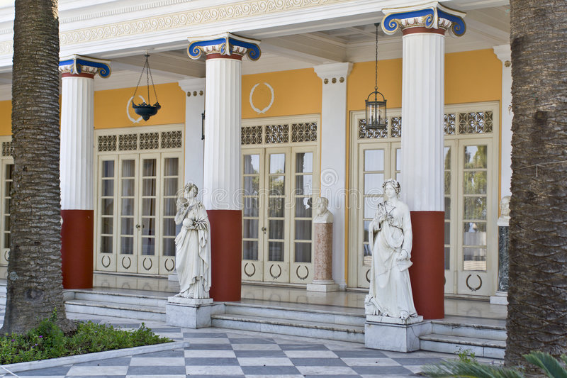 Klassieke era Griekse tempel royalty-vrije stock foto