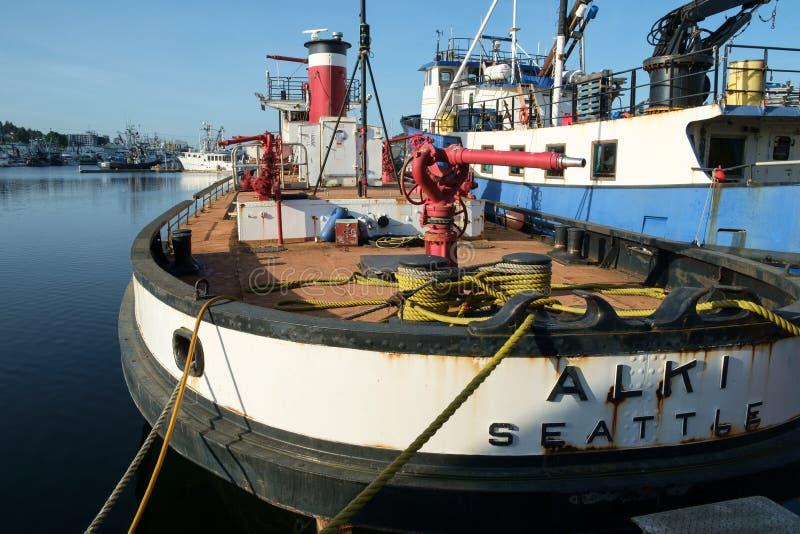 Klassieke fireboat Alki stock fotografie