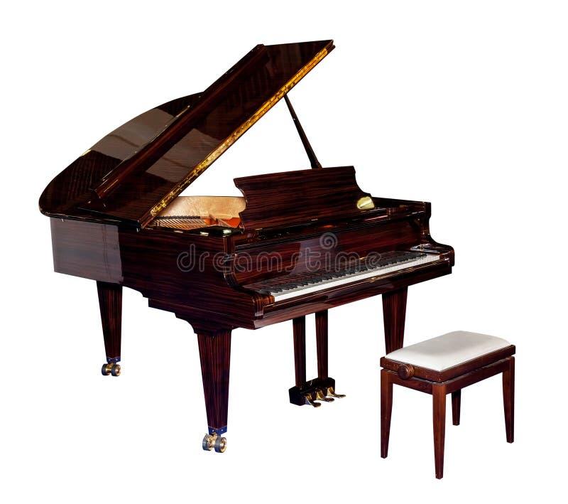 Klassieke geïsoleerde piano royalty-vrije stock afbeeldingen