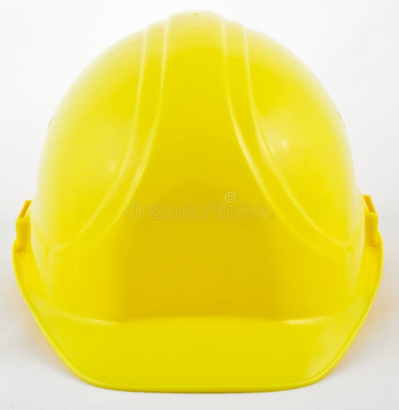 Klassieke gele bouwvakker stock afbeeldingen