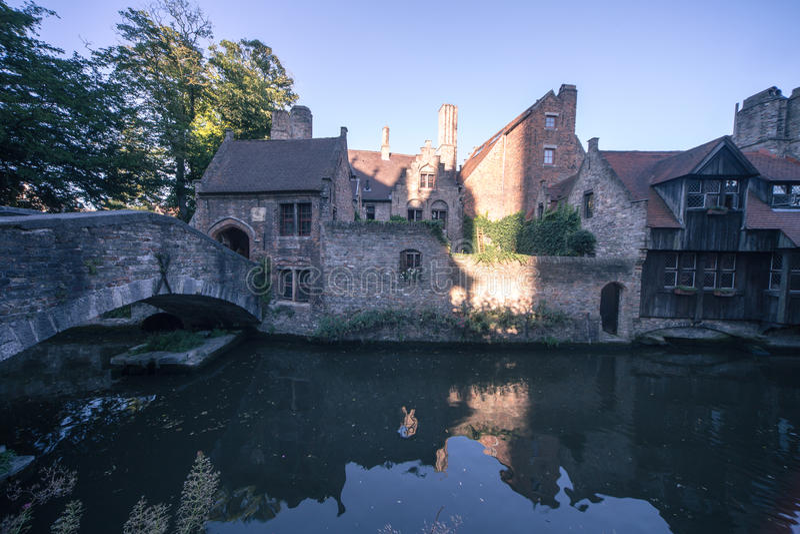 Klassieke Gezichten Van Brugge (België) Royalty-vrije Stock Fotografie