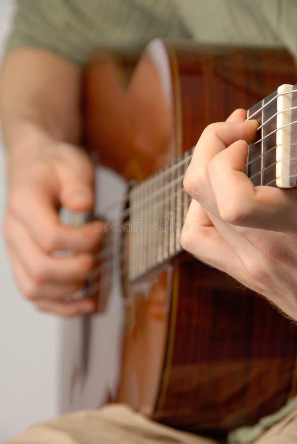 Klassieke gitaarpraktijk royalty-vrije stock fotografie